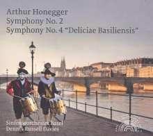 Arthur Honegger (1892-1955): Symphonien Nr.2 & 4, CD