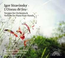 Igor Strawinsky (1882-1971): Der Feuervogel (Orchesterfassung & Version für Klavier 4-händig), 2 CDs
