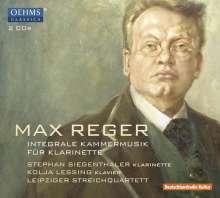 Max Reger (1873-1916): Sämtliche Kammermusik für Klarinette, 2 CDs