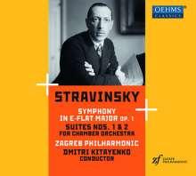 Igor Strawinsky (1882-1971): Symphonie in Es op.1, CD