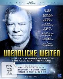 Unendliche Weiten - Die William Shatner Edition für alle Star Trek Fans (Blu-ray), 4 Blu-ray Discs