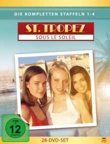 Saint Tropez Staffel 1-4, 28 DVDs