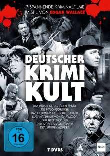 Deutscher Krimi-Kult (7 spannende Kriminalfilme im Stil von Edgar Wallace), 7 DVDs