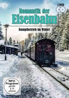 Romantik der Eisenbahn - Dampfbetrieb im Winter, 2 DVDs