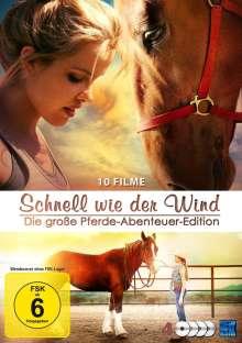Schnell wie der Wind - Die große Pferde-Abenteuer-Edition (10 Filme auf 4 DVDs), 4 DVDs