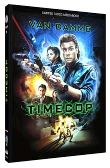 Timecop (Blu-ray & DVD im Mediabook), 1 Blu-ray Disc und 2 DVDs