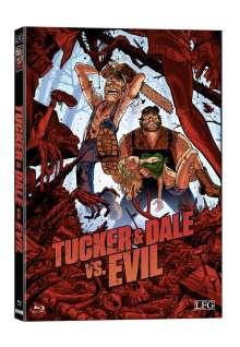 Tucker & Dale vs. Evil (Blu-ray & DVD im wattierten Mediabook), 1 Blu-ray Disc und 1 DVD
