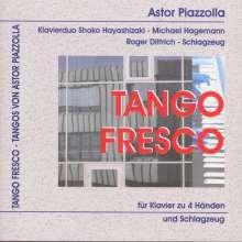 Astor Piazzolla (1921-1992): Tango Fresco - Tangos für Klavier 4-händig & Schlagzeug, CD