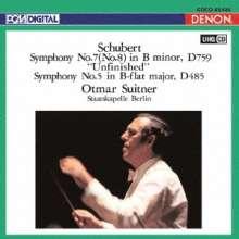 Franz Schubert (1797-1828): Symphonien Nr.5 & 8 (Ultra High Quality CD), CD