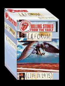 The Rolling Stones: From The Vault: L.A. Forum (Live In 1975), 2 CDs, 1 DVD und 1 T-Shirt