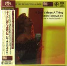 Simone Kopmajer (geb. 1993): It Don't Mean A Thing: Live At Heidi's Jazzclub (Digibook Hardcover), SACD Non-Hybrid
