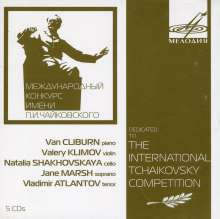 """Dedicated to """"The International Tschaikowsky Competition"""", 5 CDs"""