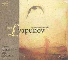 Sergei Lyapunov (1859-1924): Symphonien Nr.1 & 2, 3 CDs