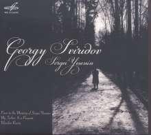 Georgi Sviridov (1915-1998): The Poem to the Memory of Sergei Yesenin, CD