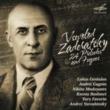 Vsevolod Zaderatsky (1891-1953): Präludien & Fugen Nr.1-24, 2 CDs