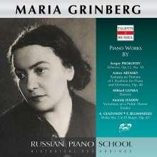 Maria Grinberg spielt Prokofieff, Arensky, Glinka, Liadow & Glasunow, CD
