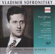 Vladimir Sofronitzky spielt Werke von Schubert, Chopin & Schumann, CD