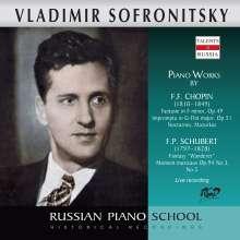 Vladimir Sofronitzky spielt Werke von Schubert & Chopin, CD