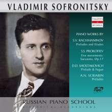 Vladimir Sofronitzky spielt Werke von Rachmaninoff, Prokofieff, Schostakowitsch & Scriabin, CD