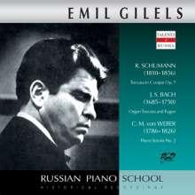 Emil Gilels spielt Schumann, Bach & Weber, CD
