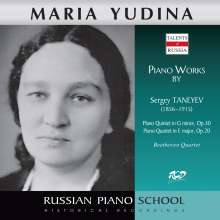 Serge Tanejew (1856-1915): Klavierquintett op.30, CD