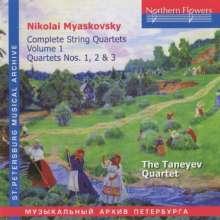 Nikolai Miaskowsky (1881-1950): Streichquartette Vol.1, CD