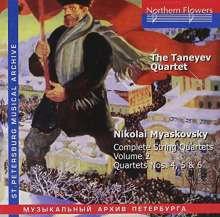Nikolai Miaskowsky (1881-1950): Streichquartette Vol.2, CD