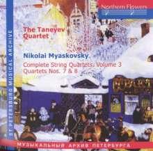 Nikolai Miaskowsky (1881-1950): Streichquartette Vol.3, CD