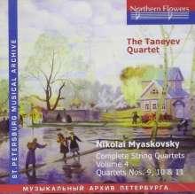 Nikolai Miaskowsky (1881-1950): Streichquartette Vol.4, CD