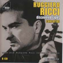 """Ruggiero Ricci - Discovered Tapes """"Concertos"""", 6 CDs"""
