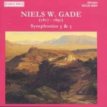 Niels Wilhelm Gade (1817-1890): Symphonien Nr.3 & 5, CD