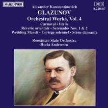 Alexander Glasunow (1865-1936): Orchesterwerke Vol.4, CD