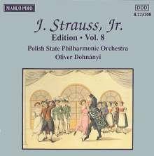 Johann Strauss II (1825-1899): Johann Strauss Edition Vol.8, CD