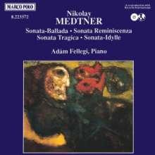 Nikolai Medtner (1880-1951): Klaviersonaten op.27;op.38,1;op.39,5;op.56, CD