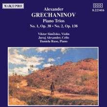 Alexander Gretschaninoff (1864-1956): Klaviertrios Nr.1 & 2, CD