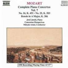 Wolfgang Amadeus Mozart (1756-1791): Klavierkonzerte Nr.16 & 25, CD