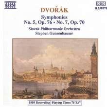 Antonin Dvorak (1841-1904): Symphonien Nr.5 & 7, CD