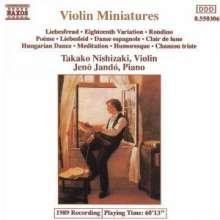 Takako Nishizaki - Miniaturen f.Violine, CD