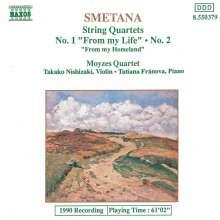 Bedrich Smetana (1824-1884): Streichquartette Nr.1 & 2, CD