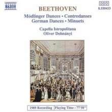 Ludwig van Beethoven (1770-1827): Mödlinger Tänze WoO 17 Nr.1-11, CD