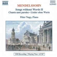 Felix Mendelssohn Bartholdy (1809-1847): Lieder ohne Worte Vol.2, CD