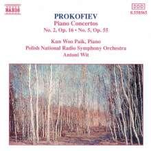 Serge Prokofieff (1891-1953): Klavierkonzerte Nr.2 & 5, CD