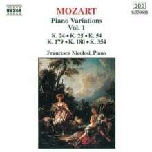 Wolfgang Amadeus Mozart (1756-1791): Variationen f.Klavier Vol.1, CD