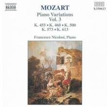 Wolfgang Amadeus Mozart (1756-1791): Variationen f.Klavier Vol.3, CD