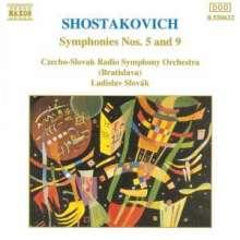 Dimitri Schostakowitsch (1906-1975): Symphonien Nr.5 & 9, CD