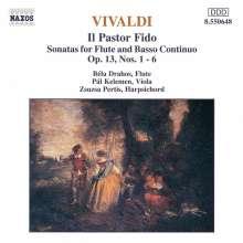 """Antonio Vivaldi (1678-1741): 6 Flötenson.op.13 """"Pastor Fido"""" (RV 54-59), CD"""