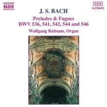 Johann Sebastian Bach (1685-1750): Präl.& Fugen BWV 536,541,542,544,546, CD