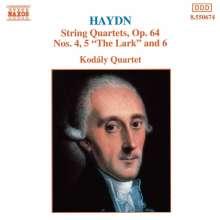 Joseph Haydn (1732-1809): Streichquartette Nr.63,64,66 (op.64 Nr.4-6), CD