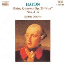 Joseph Haydn (1732-1809): Streichquartette Nr.34-36 (op.20 Nr.4-6), CD
