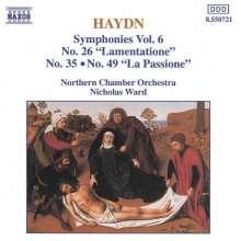 Joseph Haydn (1732-1809): Symphonien Nr.26,35,49, CD